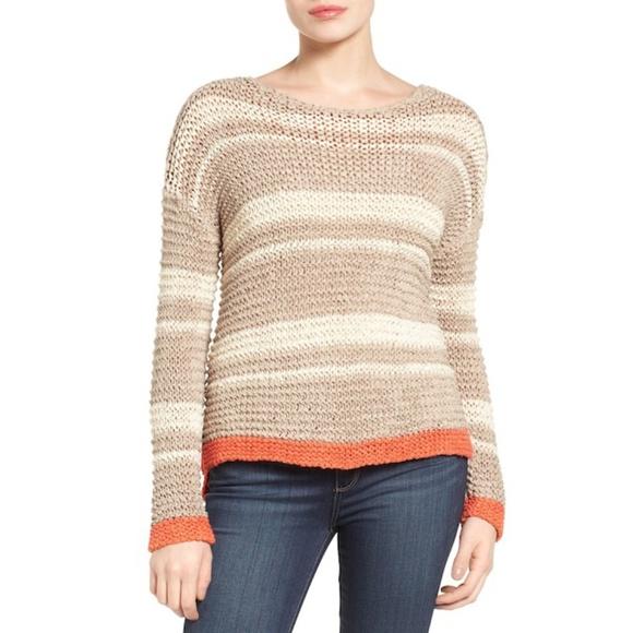 98173ac2bb9 Caslon Woven Knit Stripe Open Stitch Sweater NWT